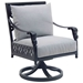 Biltmore Estate Cushioned Swivel Rocker Dining Chairs