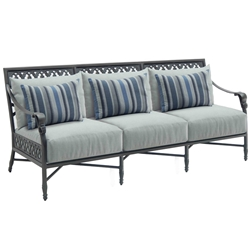 Castelle Biltmore Estate Cushioned Sofa - 9A14R