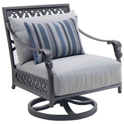 Castelle Biltmore Estate Cushioned Lounge Swivel Rocker - 9A15R