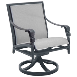 Castelle Biltmore Estate Sling Swivel Rocker Dining Chair - 9A78S