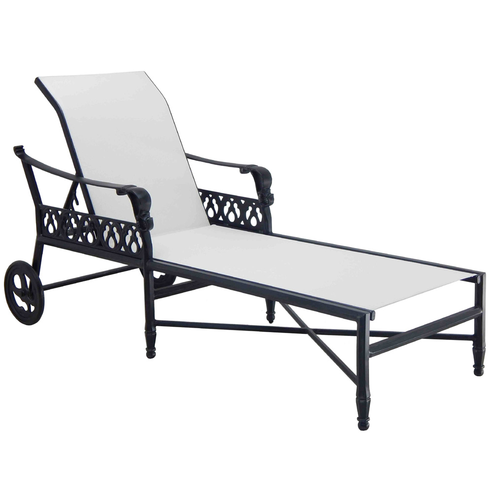 Castelle Biltmore Estate Adjustable Sling Chaise Lounge - 9A92S