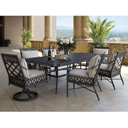 Castelle Biltmore Estate Cast Aluminum Cushion Outdoor Dining Set - CS-ESTATE-SET2