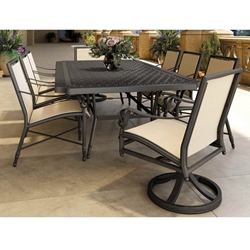 Castelle Biltmore Estate Sling Outdoor Dining Set for 8 - CS-ESTATE-SET4