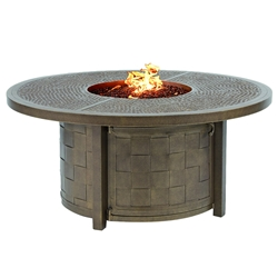 "Castelle Classical 49"" Round Coffee Table with Firepit - VCF48WL"