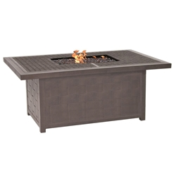 "Castelle Classical 36"" x 52"" Rectangular Coffee Table with Firepit - VRF32WL"