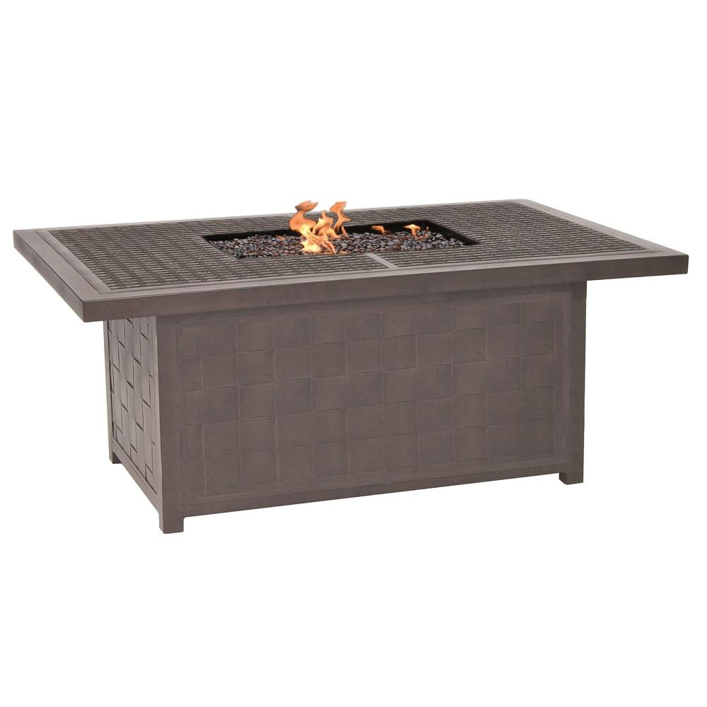 Castelle Classical 36 X 52 Rectangular Coffee Table With Firepit Vrf32wl