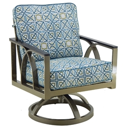 Castelle Hermosa Cushioned Swivel Rocker Dining Chair - 6707T