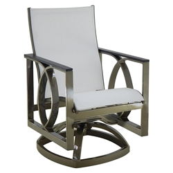 Castelle Hermosa Sling Swivel Rocker Dining Chair - 6778S