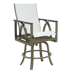 Castelle Hermosa High Back Sling Swivel Counter Stool - 6779MS