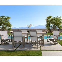 Castelle Hermosa Sling Contemporary Outdoor Dining Set - CS-HERMOSA-SET3