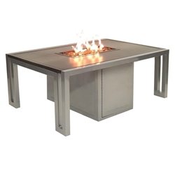 "Castelle Icon 32"" x 50"" Coffee Table with Firepit - RRF32WL"