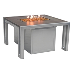 "Castelle Icon 32"" Square Coffee Table with Firepit - RSF32WL"