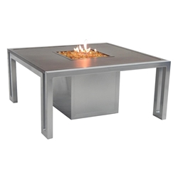 "Castelle Icon 44"" Square Coffee Table with Firepit - RSF44WL"