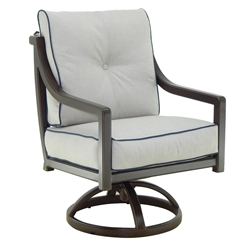 Castelle Legend Cushioned Swivel Rocker Dining Chair - 7007T