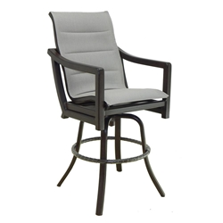 Castelle Legend High Back Sling Swivel Bar Stool - 7099S