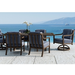 Castelle Legend Cushioned Patio Dining Set - CS-LEGEND-SET1