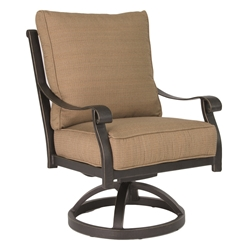 Castelle Madrid Cushioned Swivel Rocker Dining Chair - 3807T