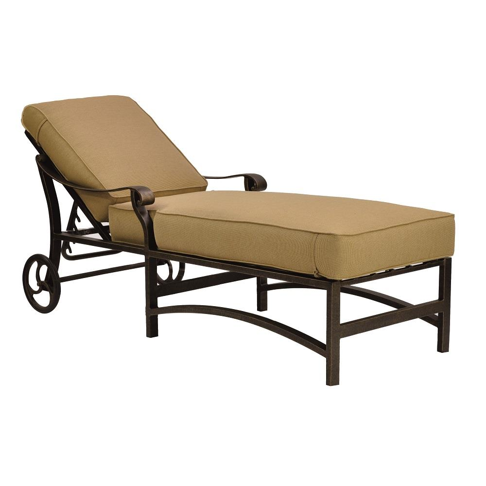 Castelle Madrid Adjustable Cushioned Chaise Lounge with Wheels - 3812T