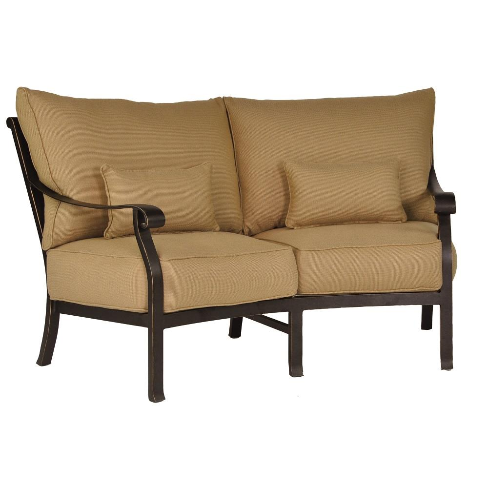 Castelle Madrid Cushioned Crescent Loveseat - 3841T