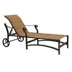 Castelle Madrid Adjustable Sling Chaise Lounge with Wheels - 3892S