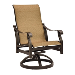 Castelle Madrid Sling Swivel Rocker Dining Chair - 3897S
