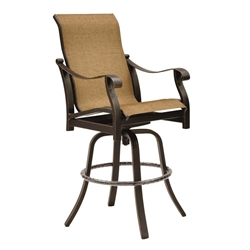 Castelle Madrid High Back Sling Swivel Bar Stool - 3899S