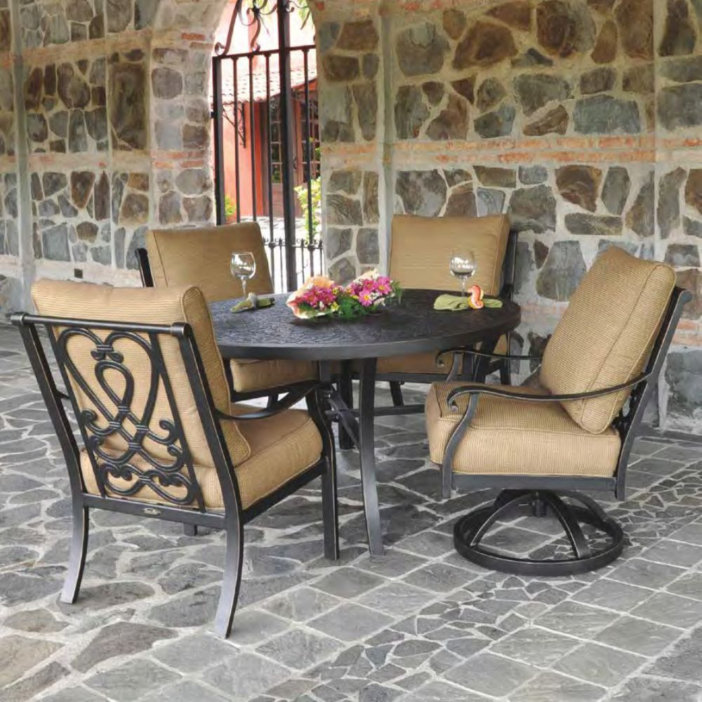 Castelle Madrid Outdoor Cushioned Dining Set for 4 - CS-MADRID-SET1