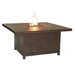 "Castelle Moderna 36"" x 52"" Rectangular Coffee Table with Firepit - PRF32WL"