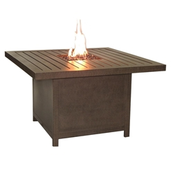 "Castelle Moderna 44"" Square Coffee Table with Firepit - PSF42WL"