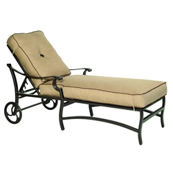 Castelle Monterey Adjustable Cushioned Chaise Lounge with Wheels - 5812T