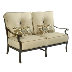 Castelle Monterey High Back Cushioned Loveseat - 5831T