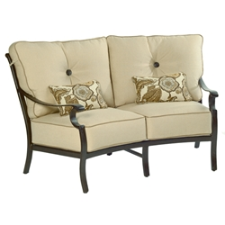 Castelle Monterey High Back Cushioned Crescent Loveseat  - 5861T