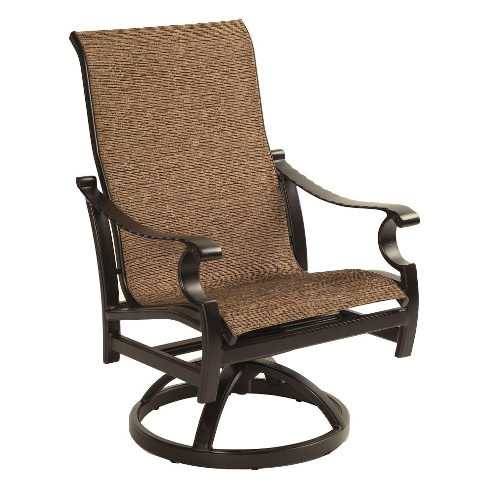 Castelle Monterey Sling Swivel Rocker Dining Chair - 5897S
