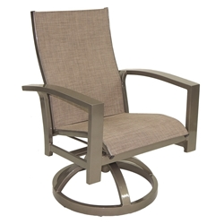Castelle Orion Sling Swivel Rocker Dining Chair - 1078S