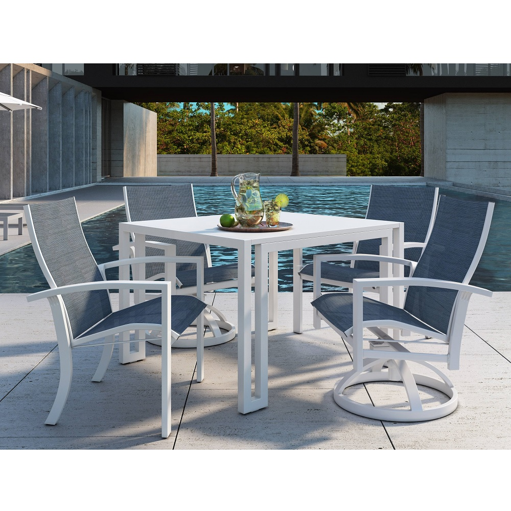 Castelle Orion Sling Modern Outdoor Dining Set for 4 - CS-ORION-SET2