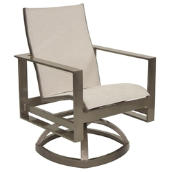 Castelle Park Place Sling Swivel Rocker Dining Chair - 2278S