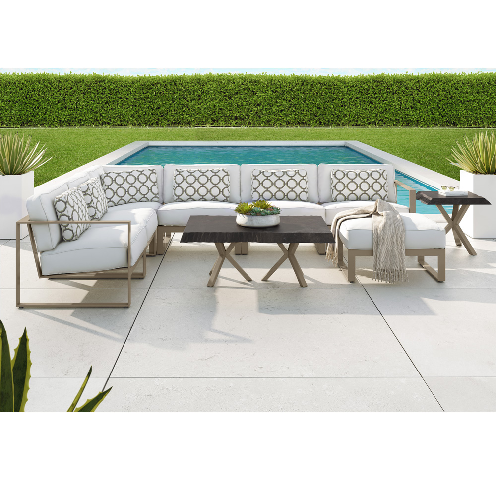 Castelle Park Place Modern Outdoor Sectional Set - CS-PARKPLACE-SET1