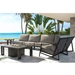 Castelle Prism Modern Outdoor Cushion Sectional Set with Icon Firepit - CS-PRISM-SET3