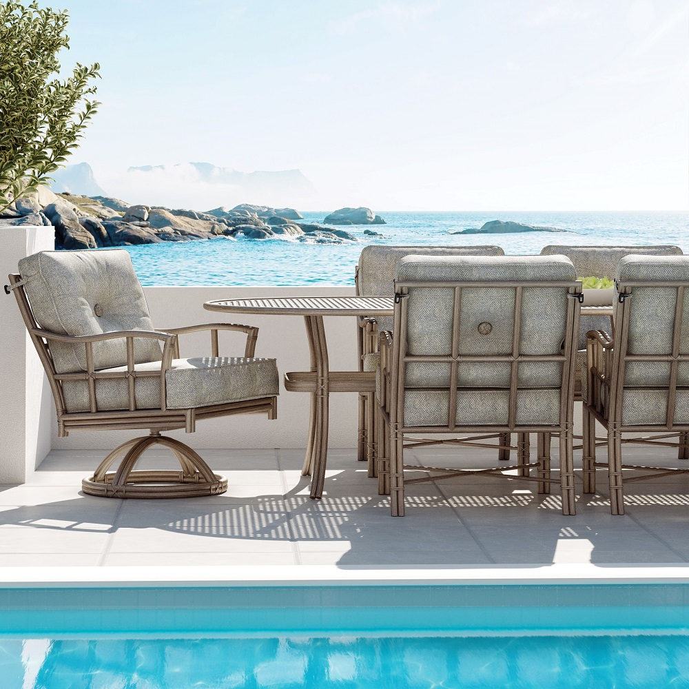 Castelle Resort Fusion Cushion Outdoor Dining Set - CS-RESORT-SET1