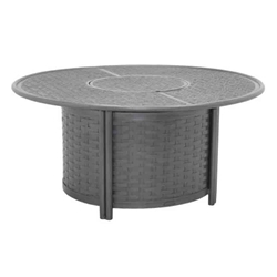 "Castelle Resort Fusion 48"" Round Coffee Table with Firepit - D9CF48CWL"