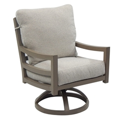 Castelle Roma Cushioned Swivel Rocker Dining Chair - 9607R