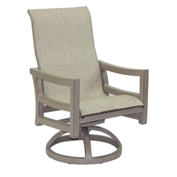 Castelle Roma Sling Swivel Rocker Dining Chair - 9697S
