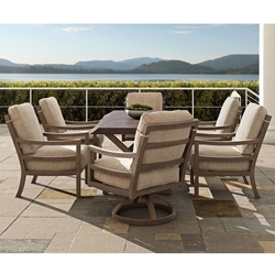 Castelle Roma Outdoor Dining Set for 6 with Oxford Table - CS-ROMA-SET1