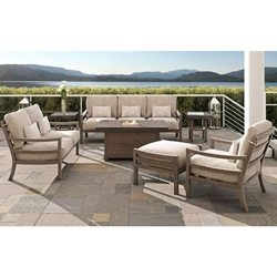 Castelle Roma Outdoor Furniture Set with Firepit Table - CS-ROMA-SET2