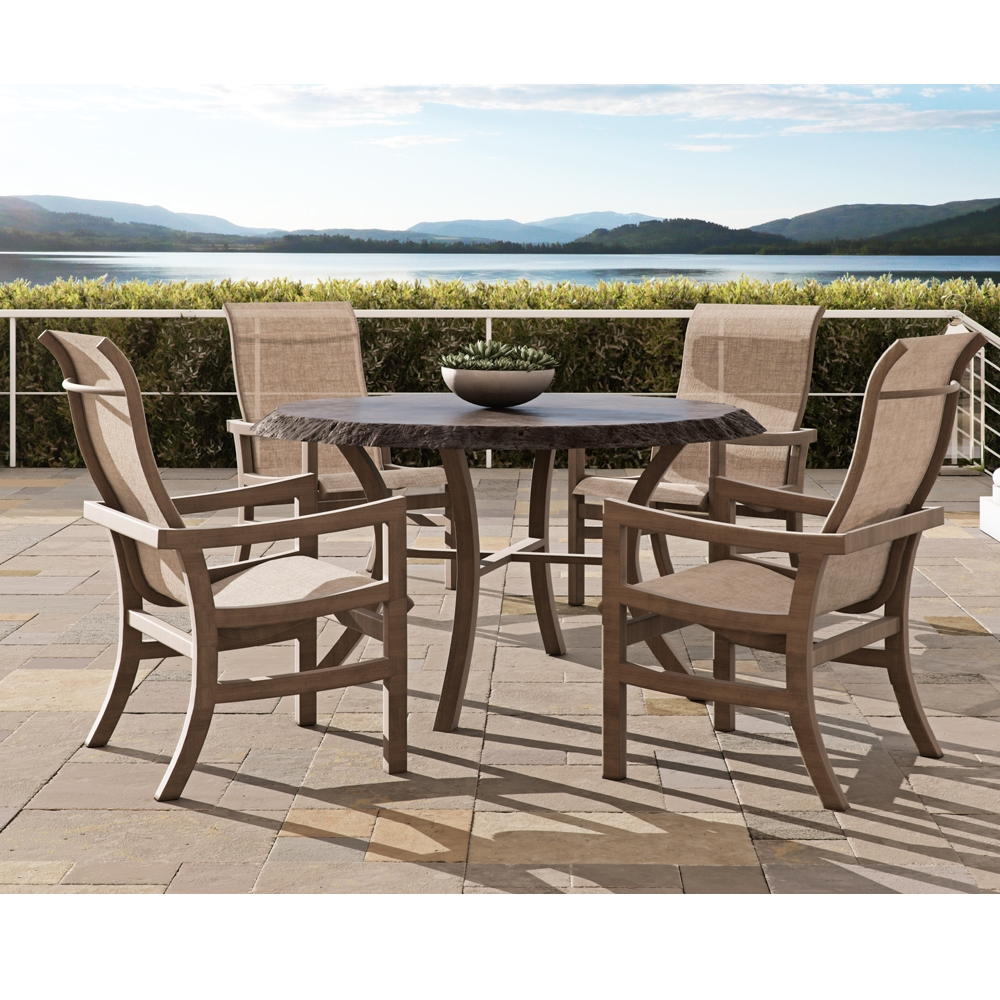 Castelle Roma Sling Round Outdoor Dining Set for 4 - CS-ROMA-SET3