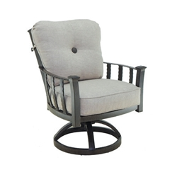 Castelle Santa Fe Cushioned Swivel Rocker Dining Chair - 1407T