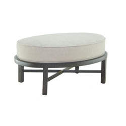 Castelle Santa Fe Cushioned Oval Ottoman - 1443T