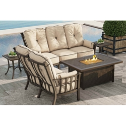 Castelle Santa Fe Deep Seating Outdoor Furniture Set with Firepit Coffee Table - CS-SANTAFE-SET1