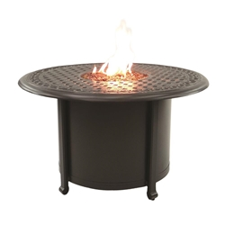 "Castelle Sienna 38"" Round Coffee Table with Firepit - DCF38WL"