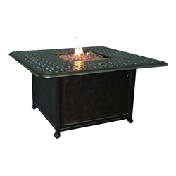 "Castelle Sienna 42"" Square Sienna Coffee Table with Firepit - DSF42WL"